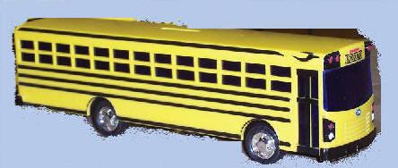 Custom Lettered School Bus Models